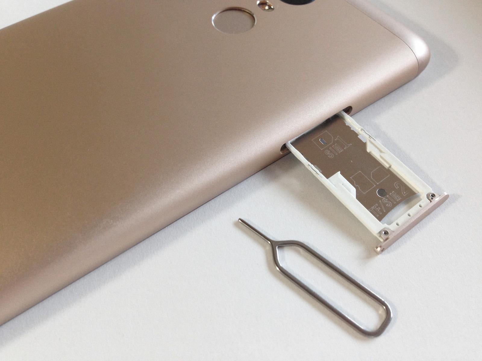 Xiaomi Redmi Note 3 Pro SIMカードスロット