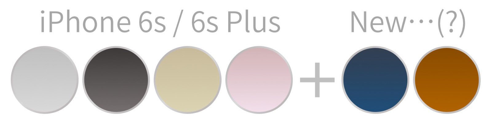 iPhone 7 カラーバリエーション 予想