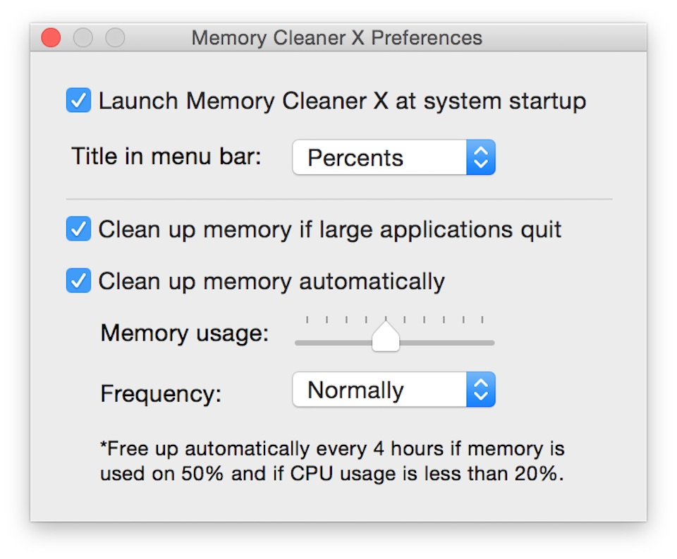 memory-cleaner-x-setting