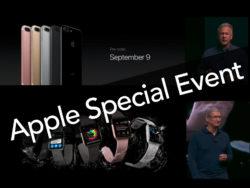 Apple 9月7日スペシャルイベント