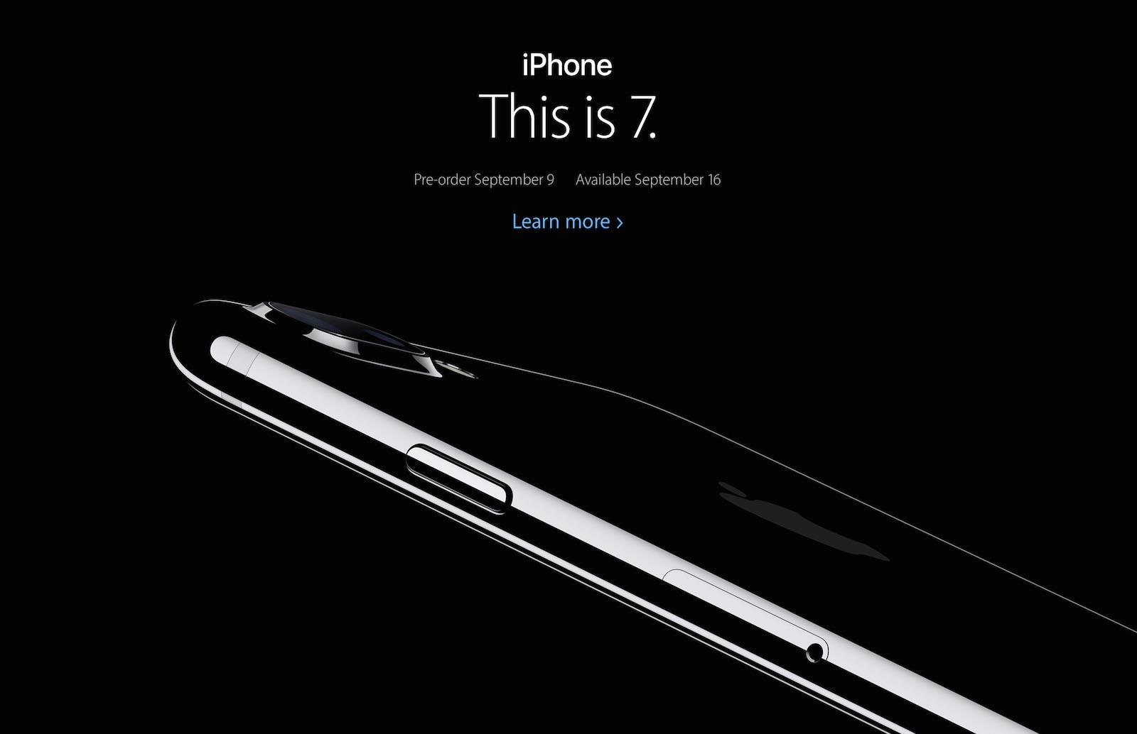 iPhone 7、7 Plus発表
