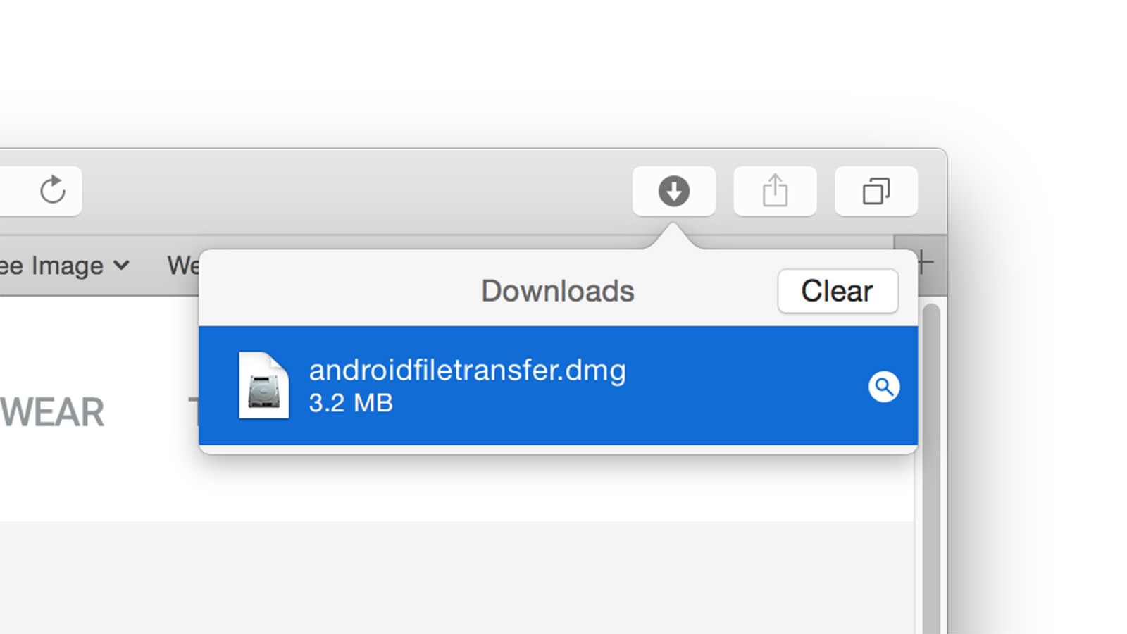 Android File Transfer dmgファイル
