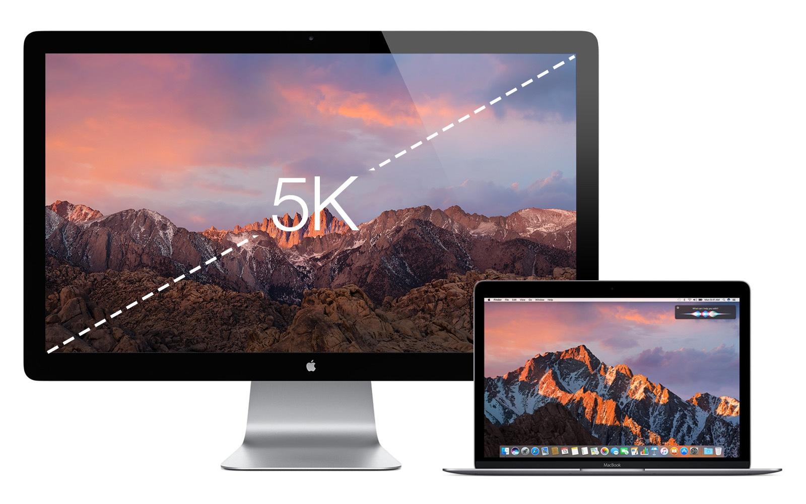 2016年 5K Retina Thunderbolt Display コンセプトイメージ