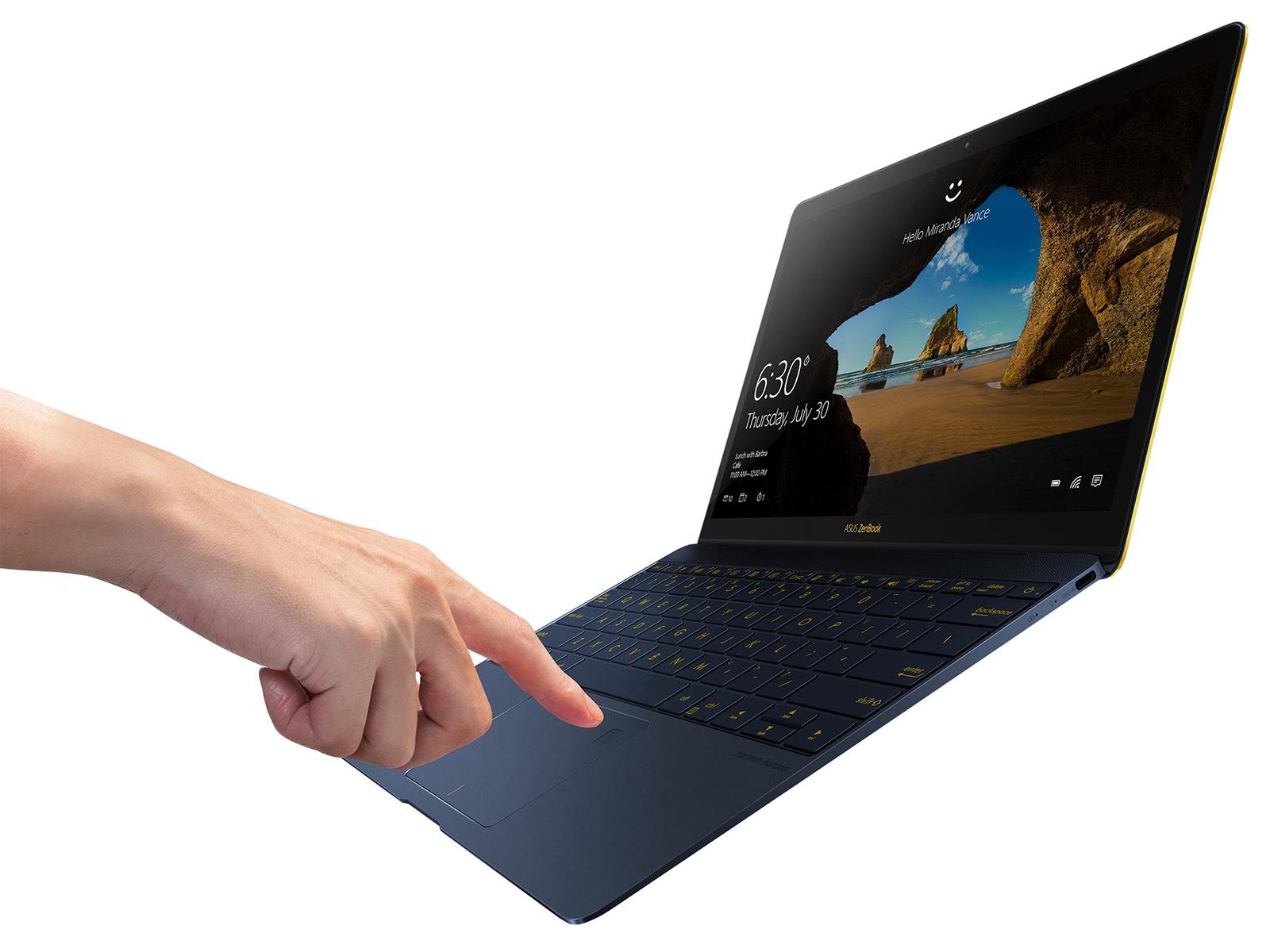 ASUS ZenBook 3 指紋認証センサー