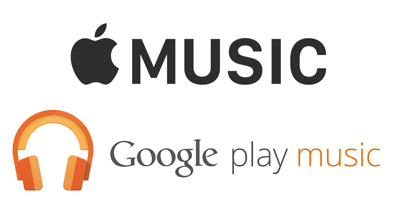 Apple Music Google Play Music 聴き放題