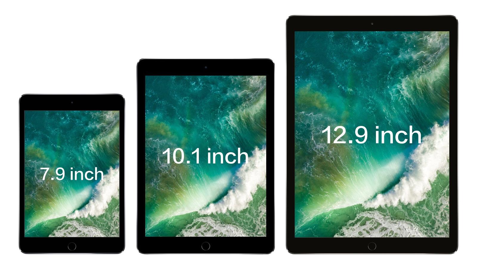 2017年 iPad Pro 7.9インチ、10.1インチ、12.9インチ