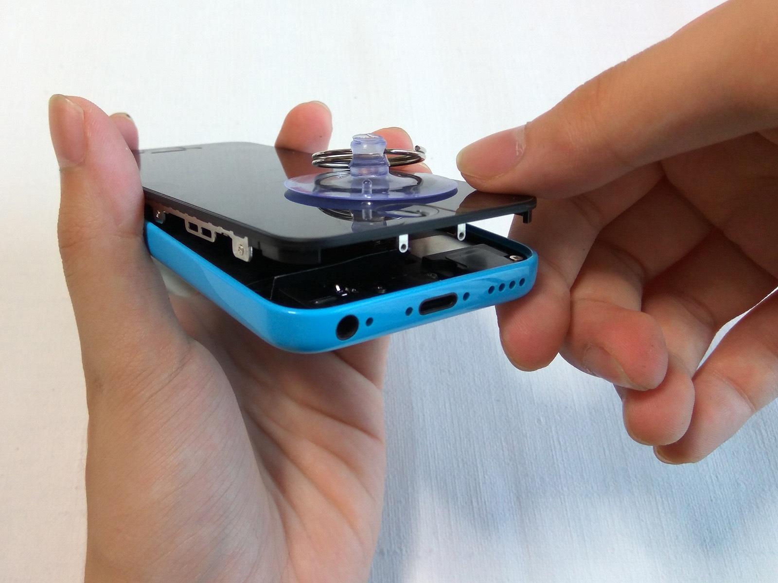 iPhone 5c バッテリー交換 本体を閉じる