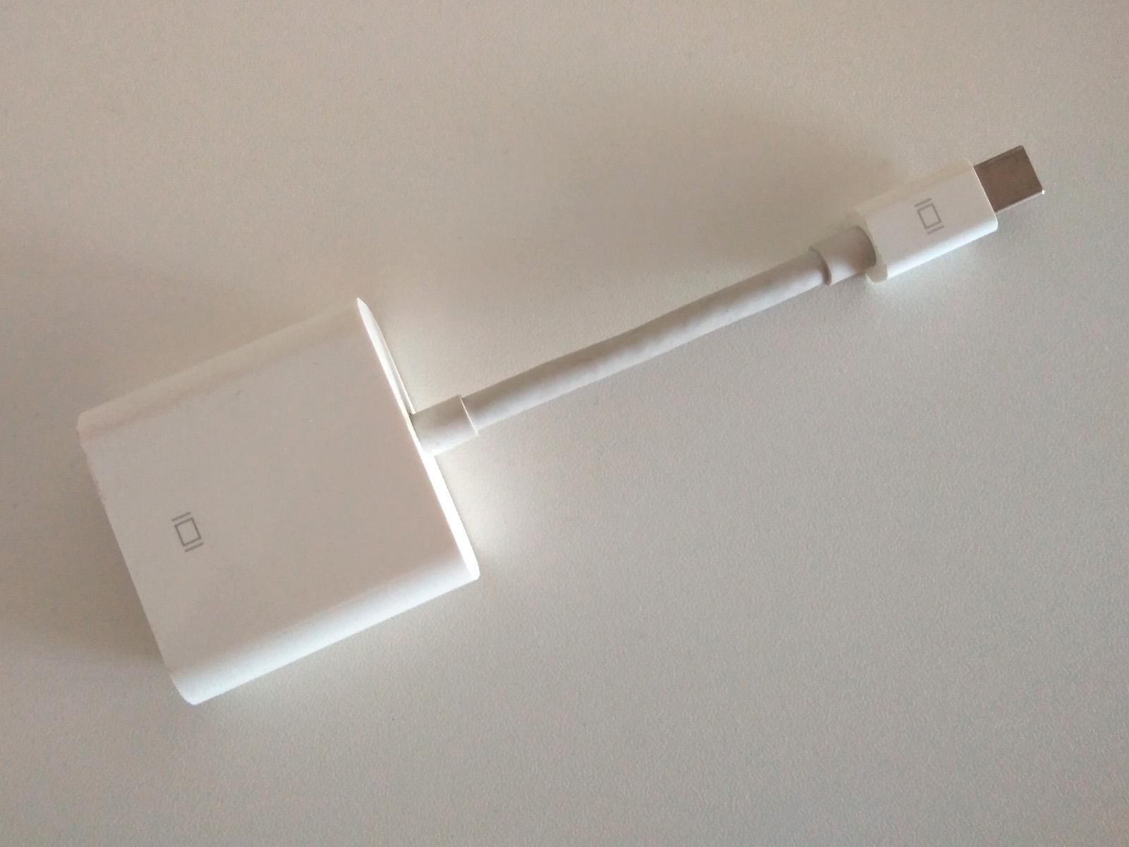 MacBook Pro 外部モニター2台 トリプルディスプレイ Mini DisplayPort to DIV 変換アダプター