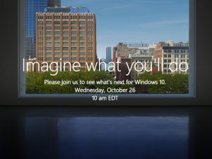 Microsoft 10月26日 発表イベント