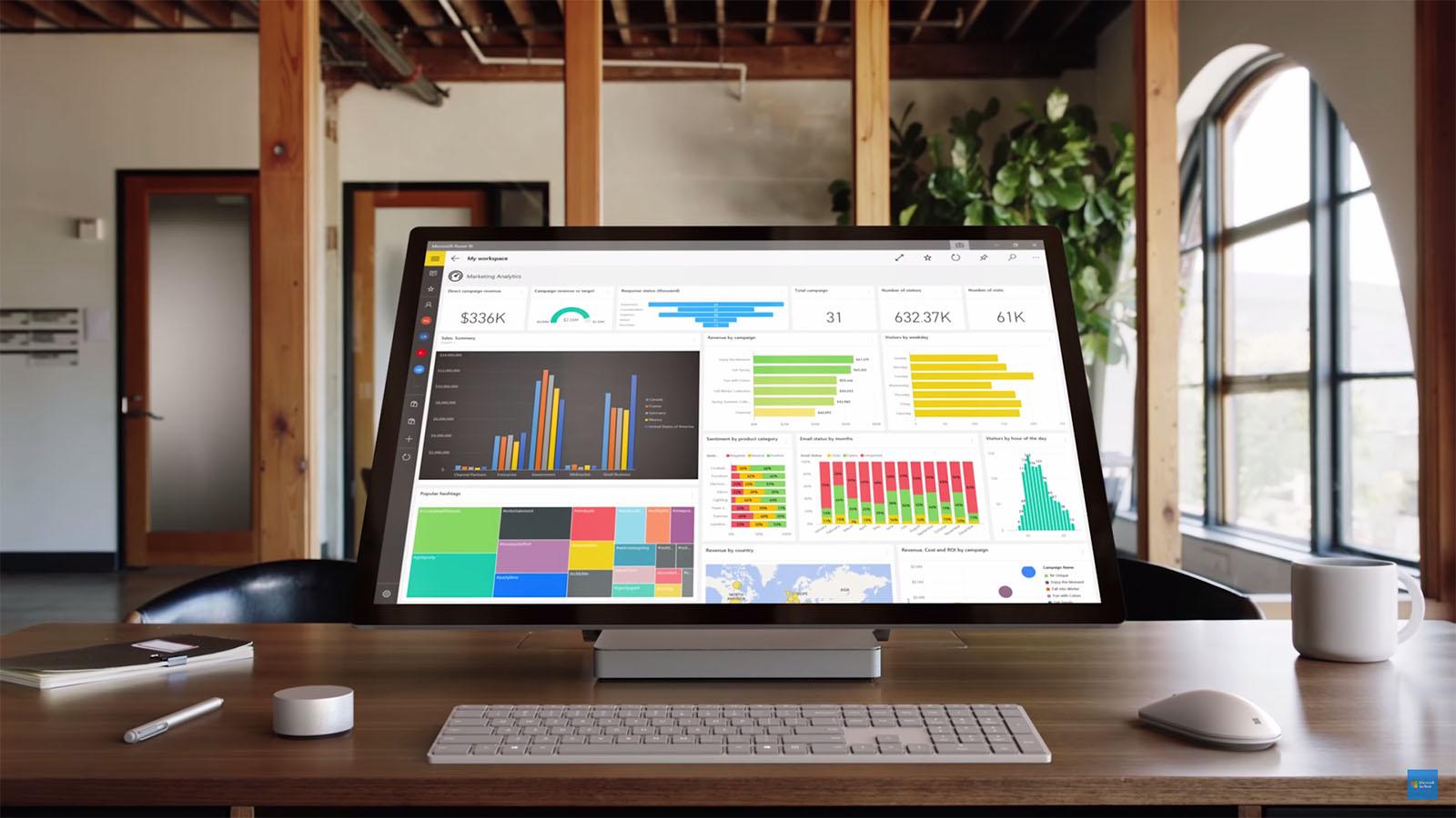 Surface Studio 28インチディスプレイ