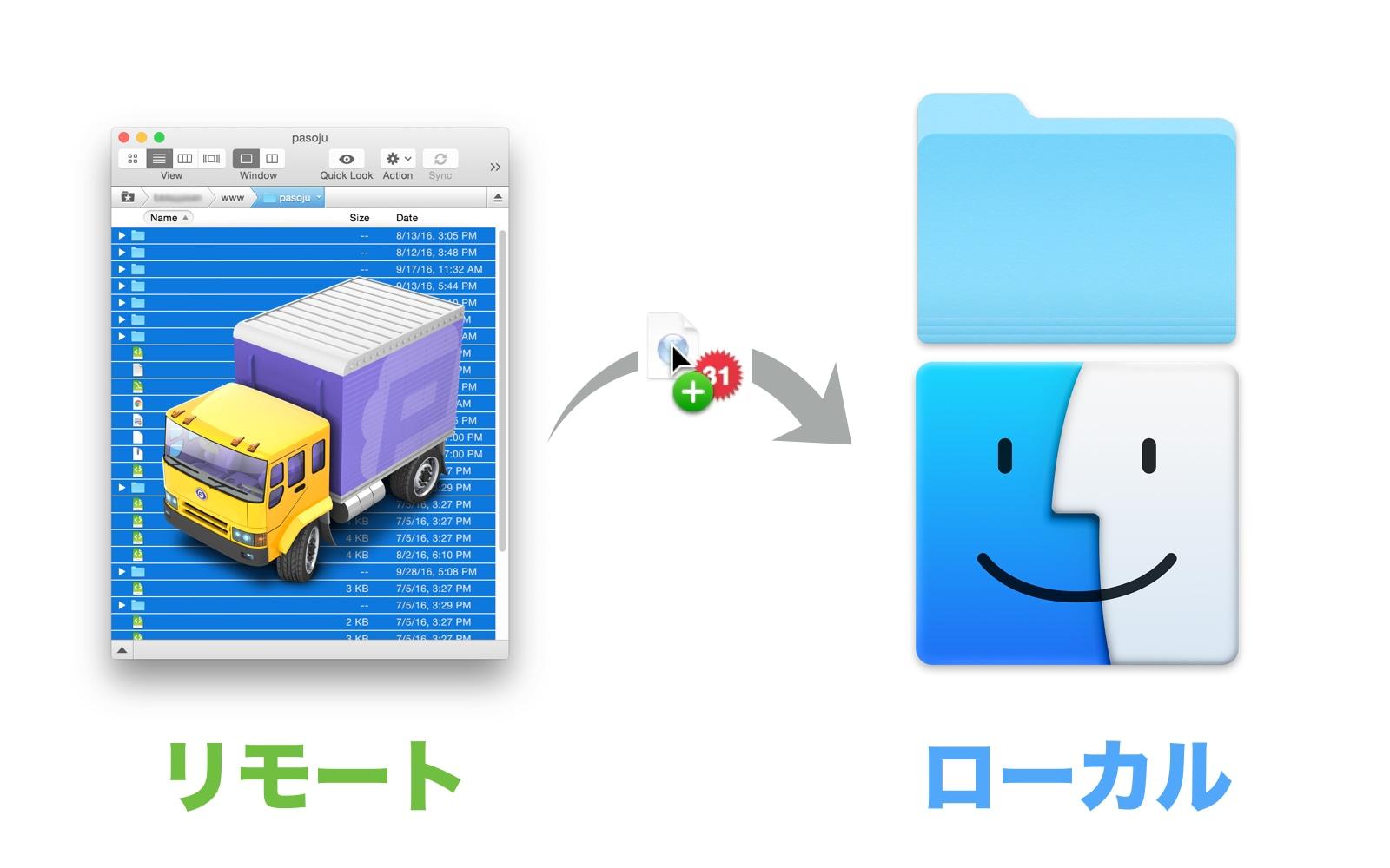 wpXレンタルサーバー 旧サーバーからファイルをダウンロード