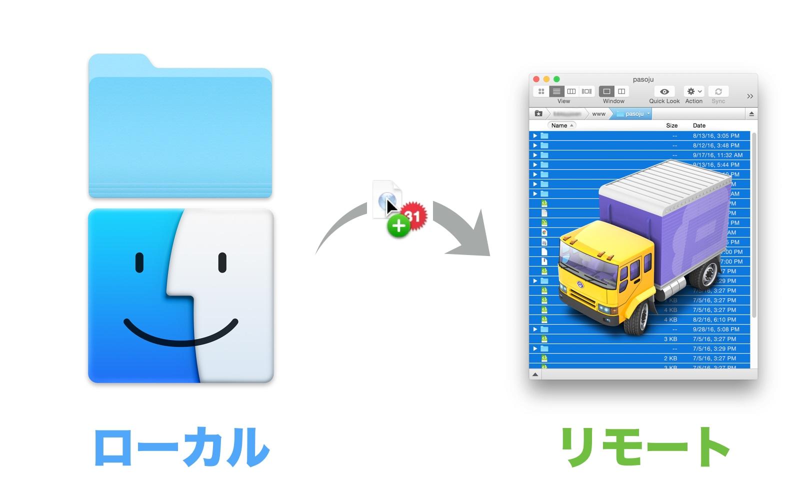 wpXレンタルサーバー ファイルをアップロード