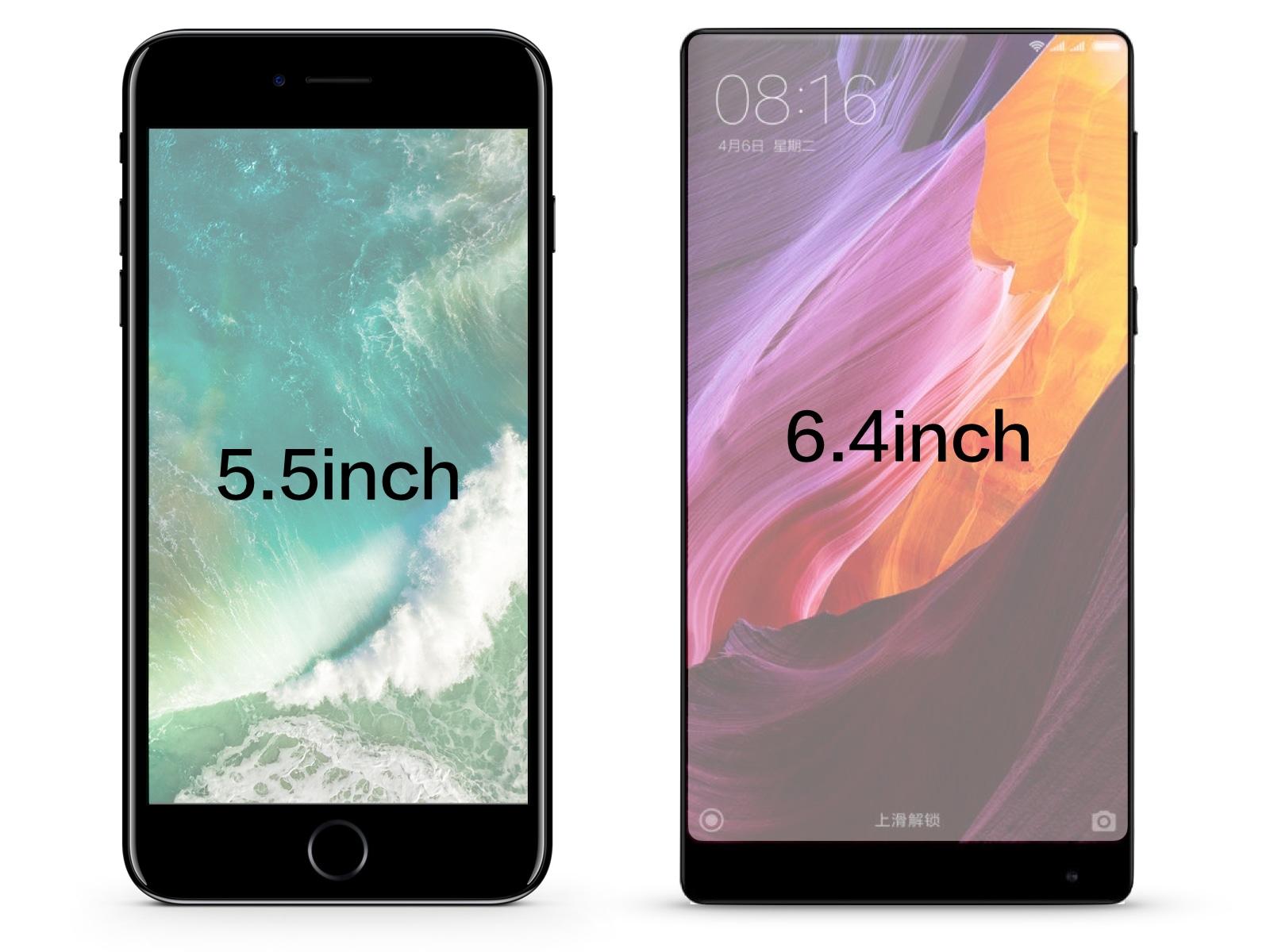 Mi MIX vs iPhone 7 Plus