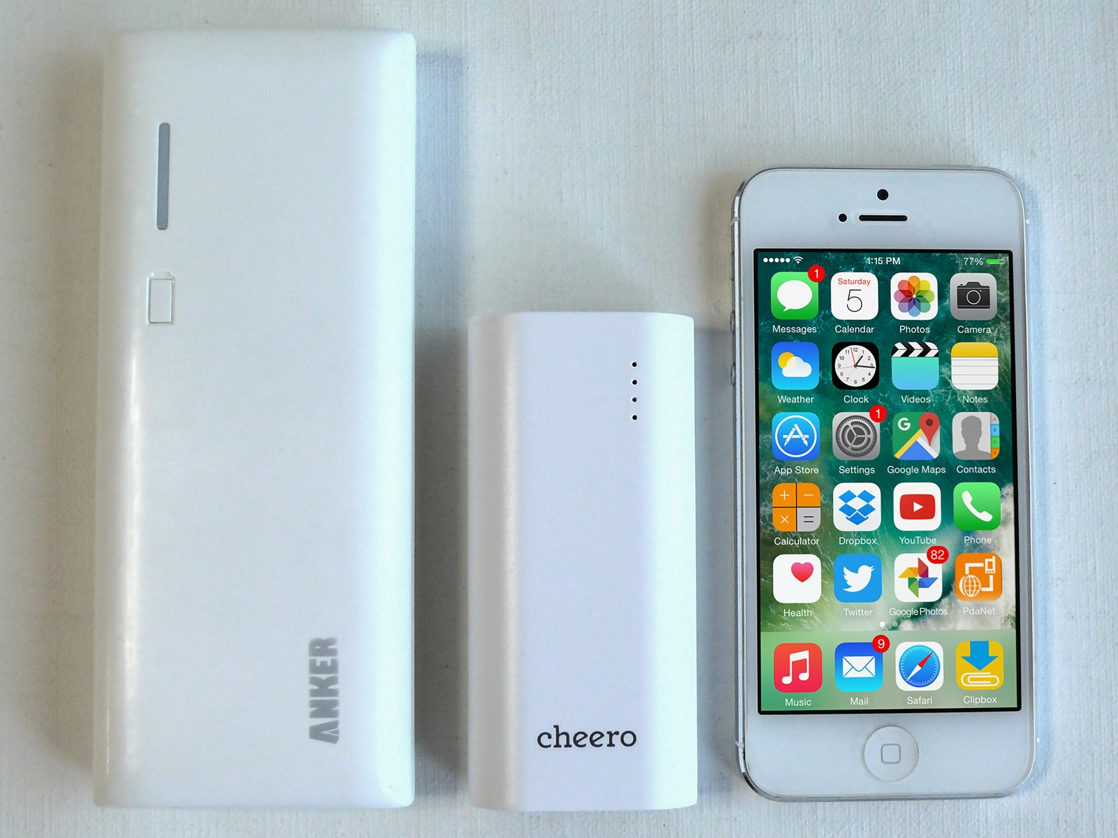 cheero Power Plus 3 mini 5200mAh サイズ比較