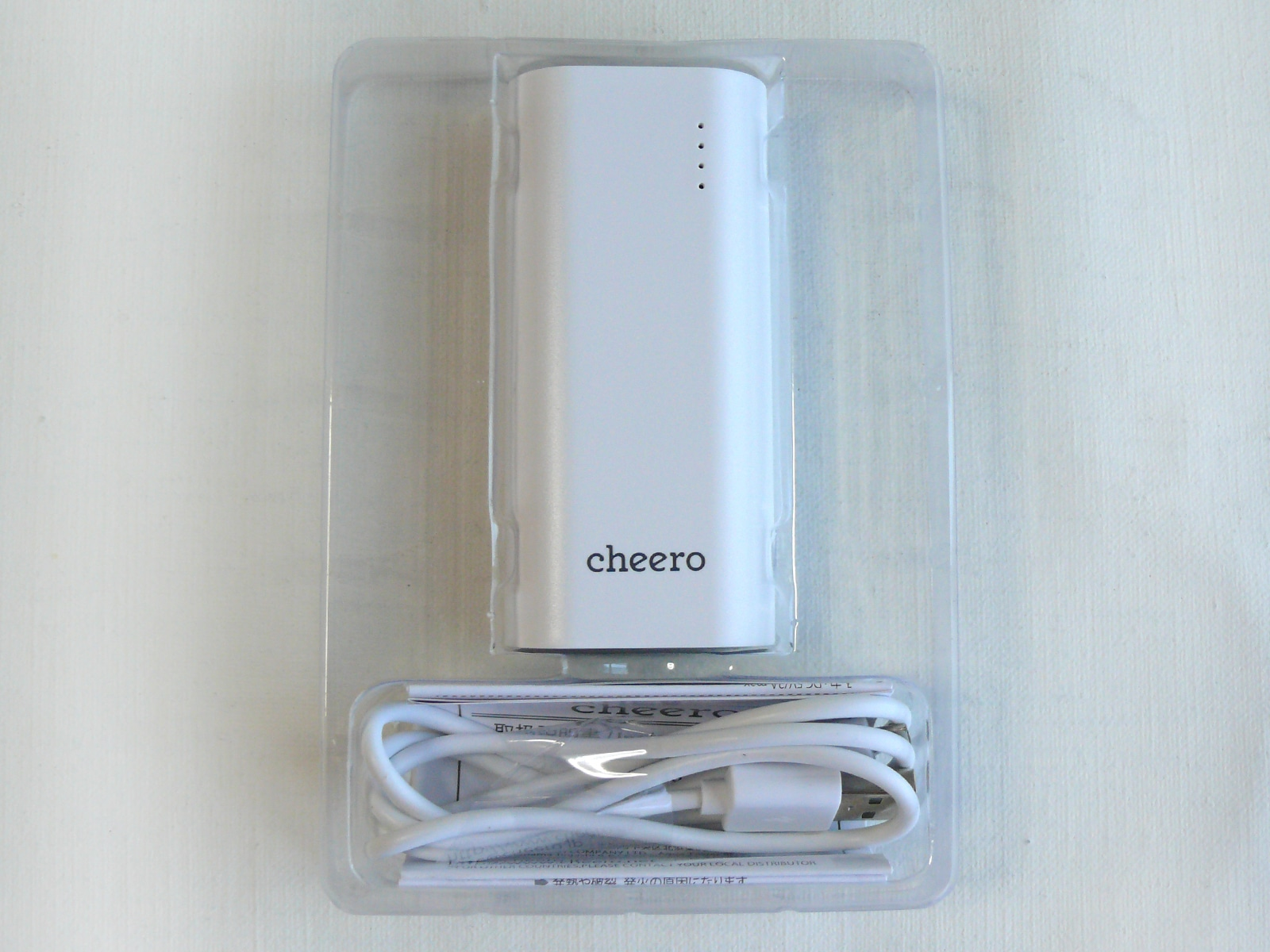 cheero Power Plus 3 mini 5200mAh 開封 中身