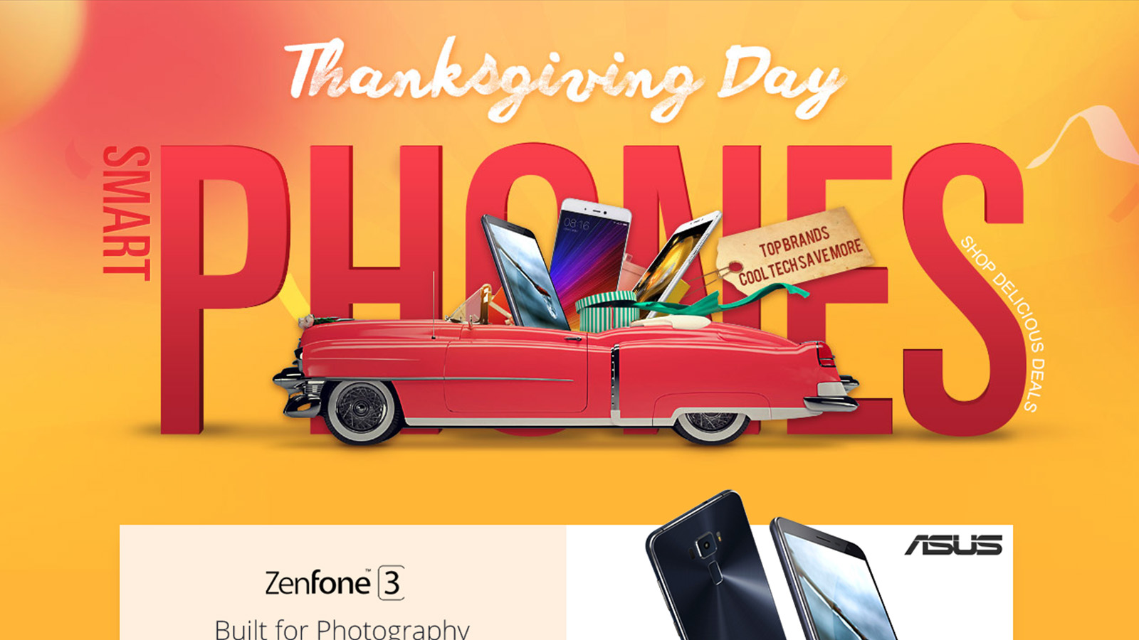 Thanksgiving Day of Top Brands Smart Phones Promotional
