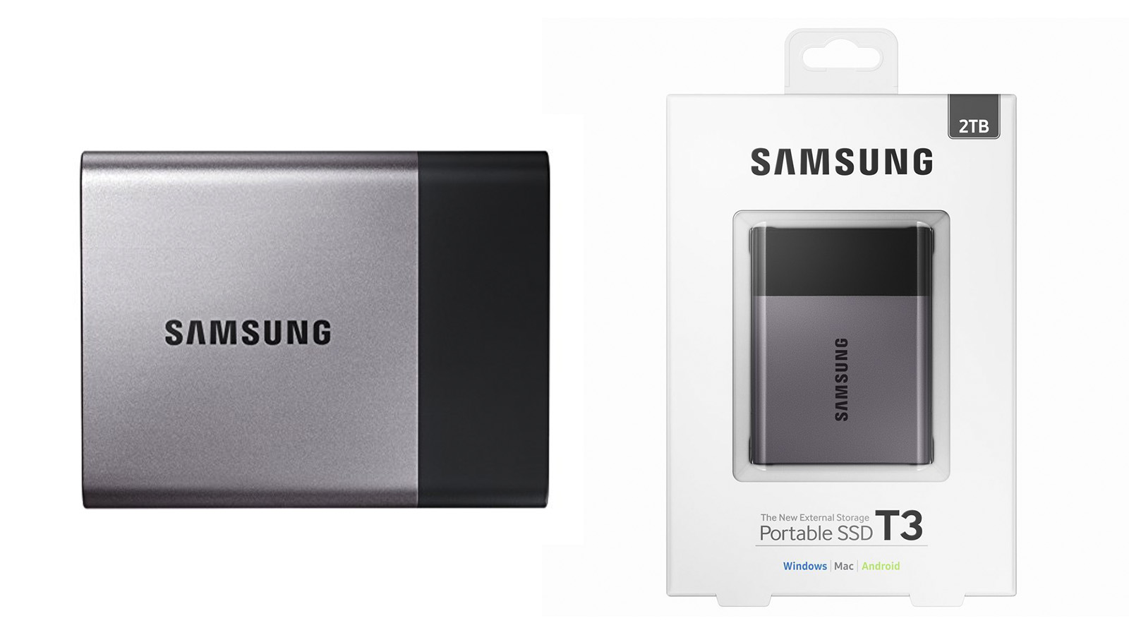 Samsung T3 ポータブルSSD