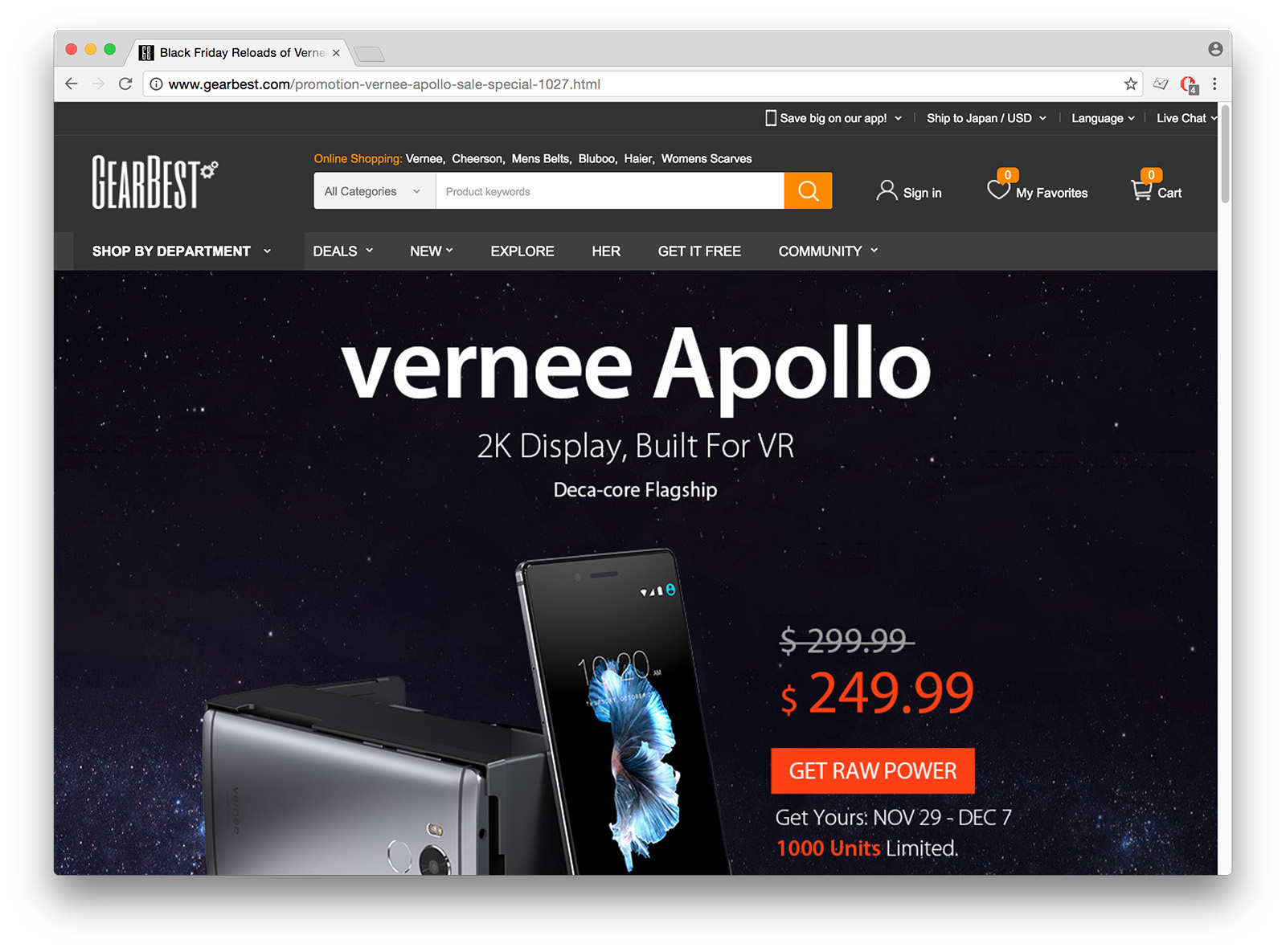 Black Friday Reloads of Vernee Apollo 4G Phablet Just $249.99 - GearBest.com