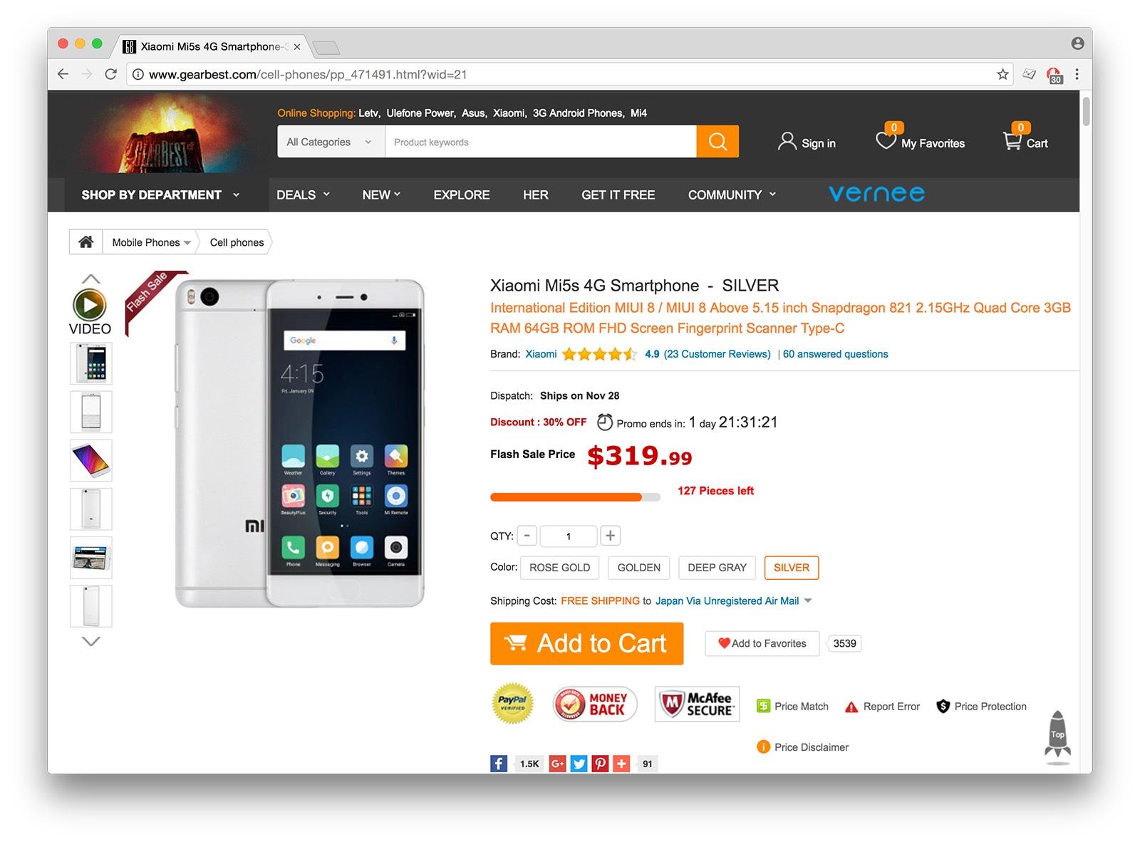 Xiaomi Mi5s GearBest
