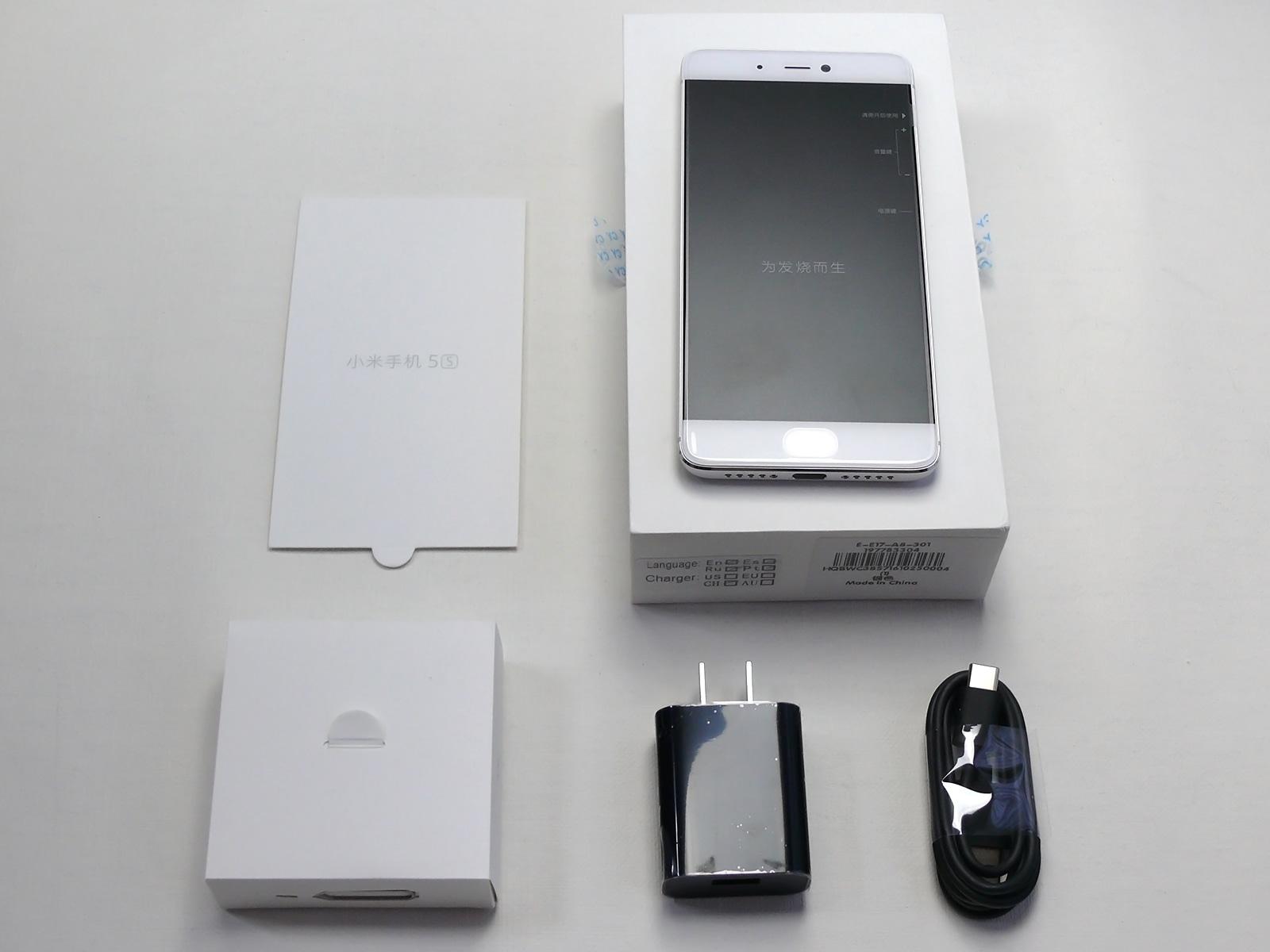 Xiaomi Mi5s 開封 同梱品