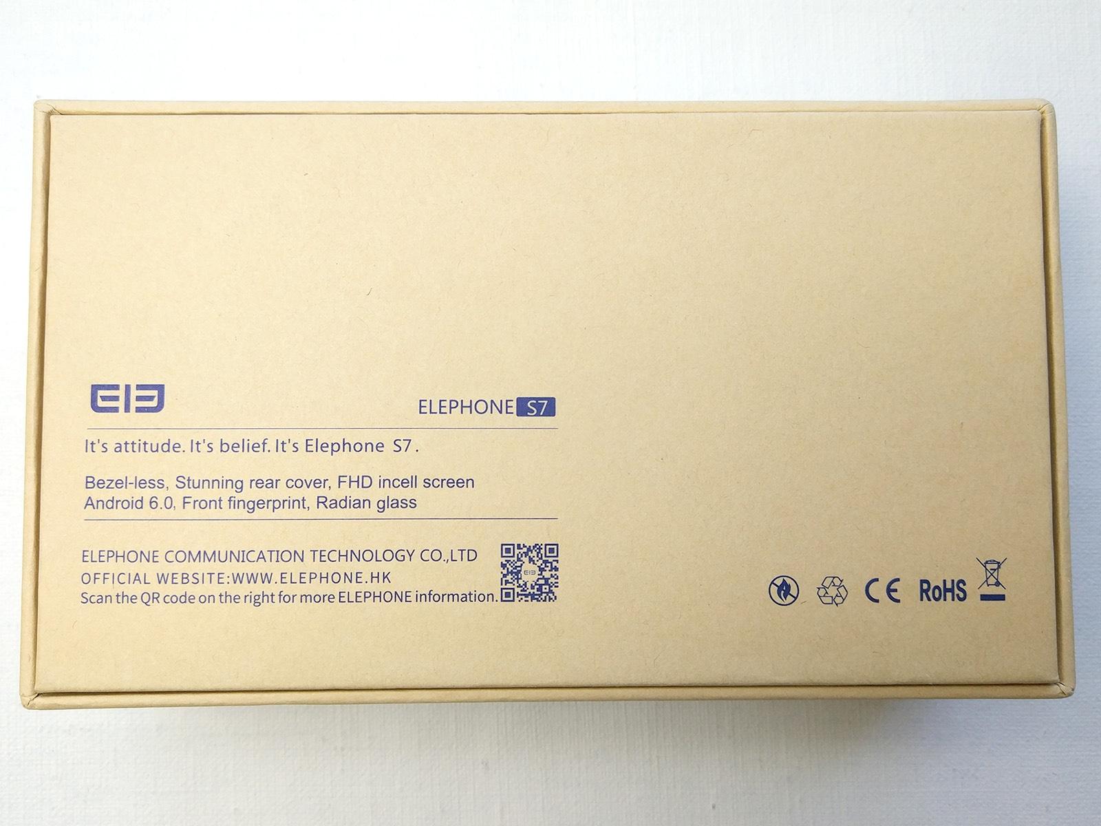 Elephone S7 化粧箱