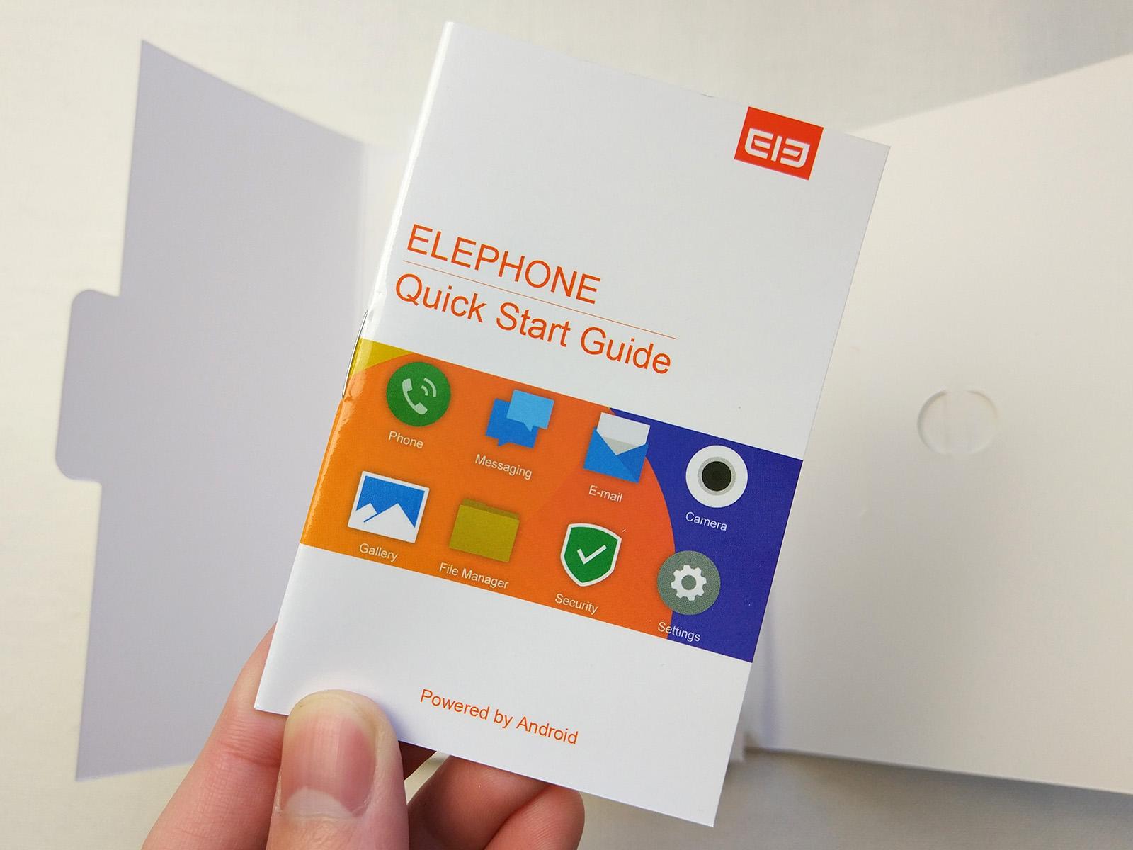 Elephone S7 クイックスタートガイド