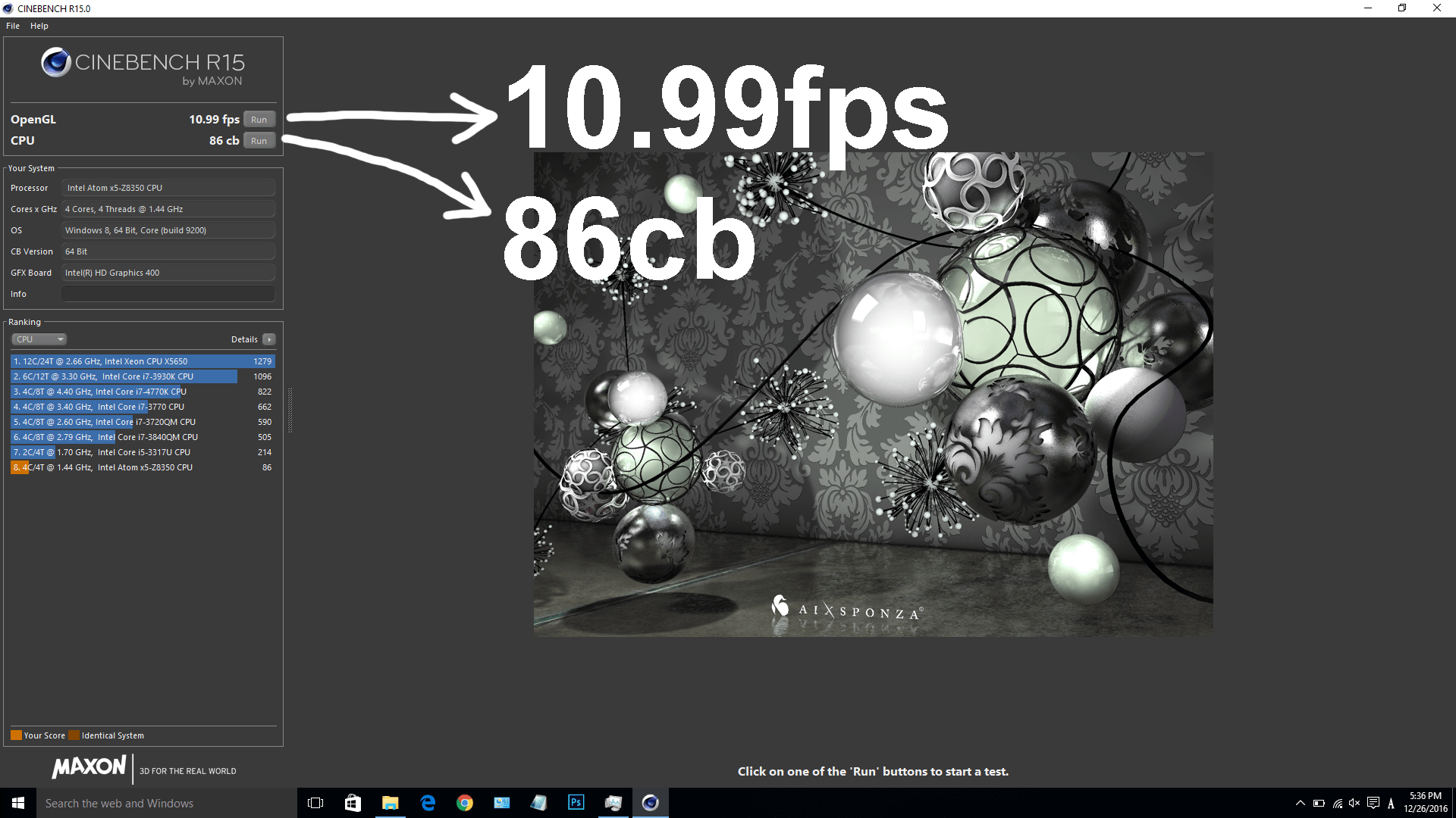Jumper EzBook Air Cinebench R15