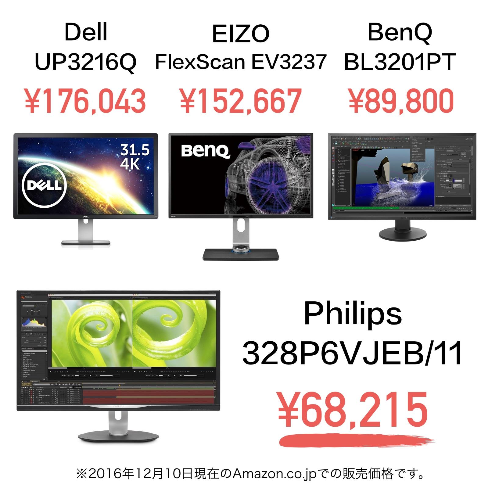 Philips 328P6VJEB/11の価格と他社製品との比較