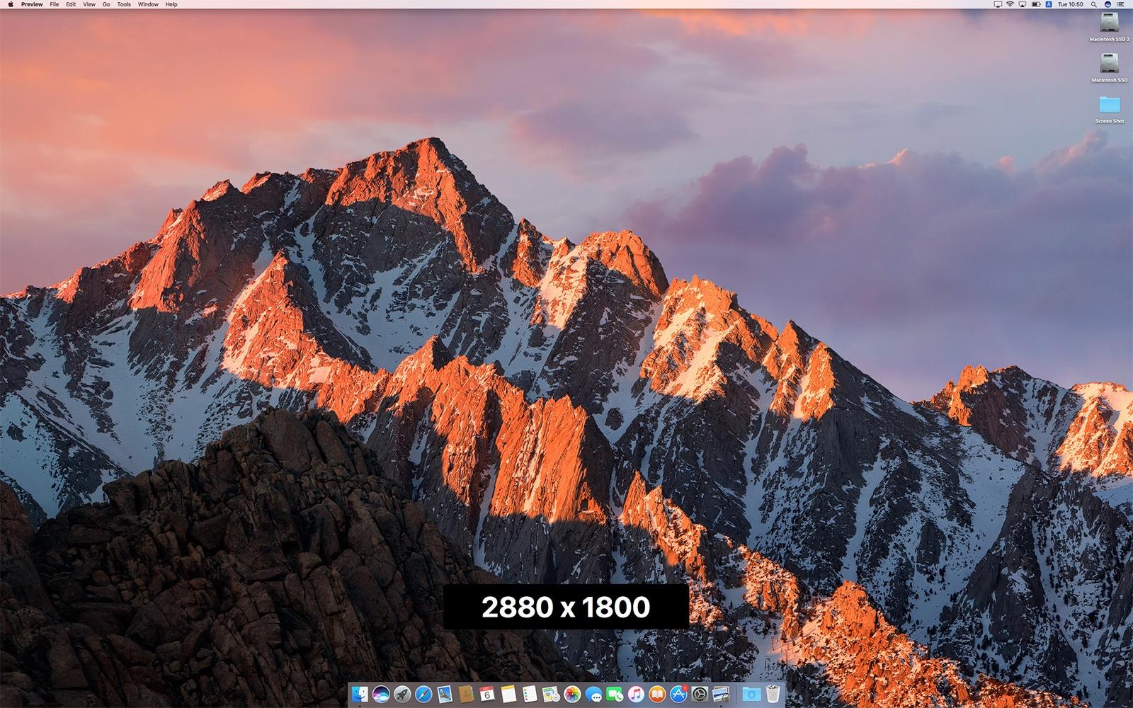 QuickRes 解像度変更 2,880 x 1,800