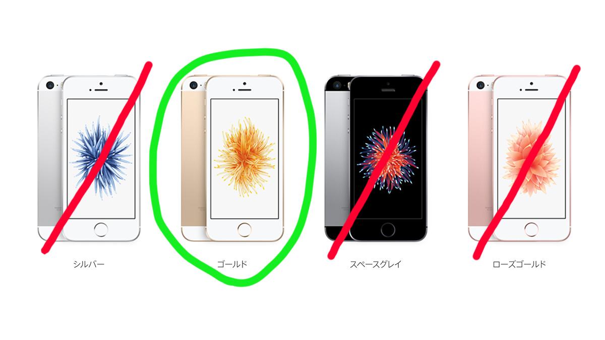 BIGLOBE SIM iPhone SE カラーバリエーション
