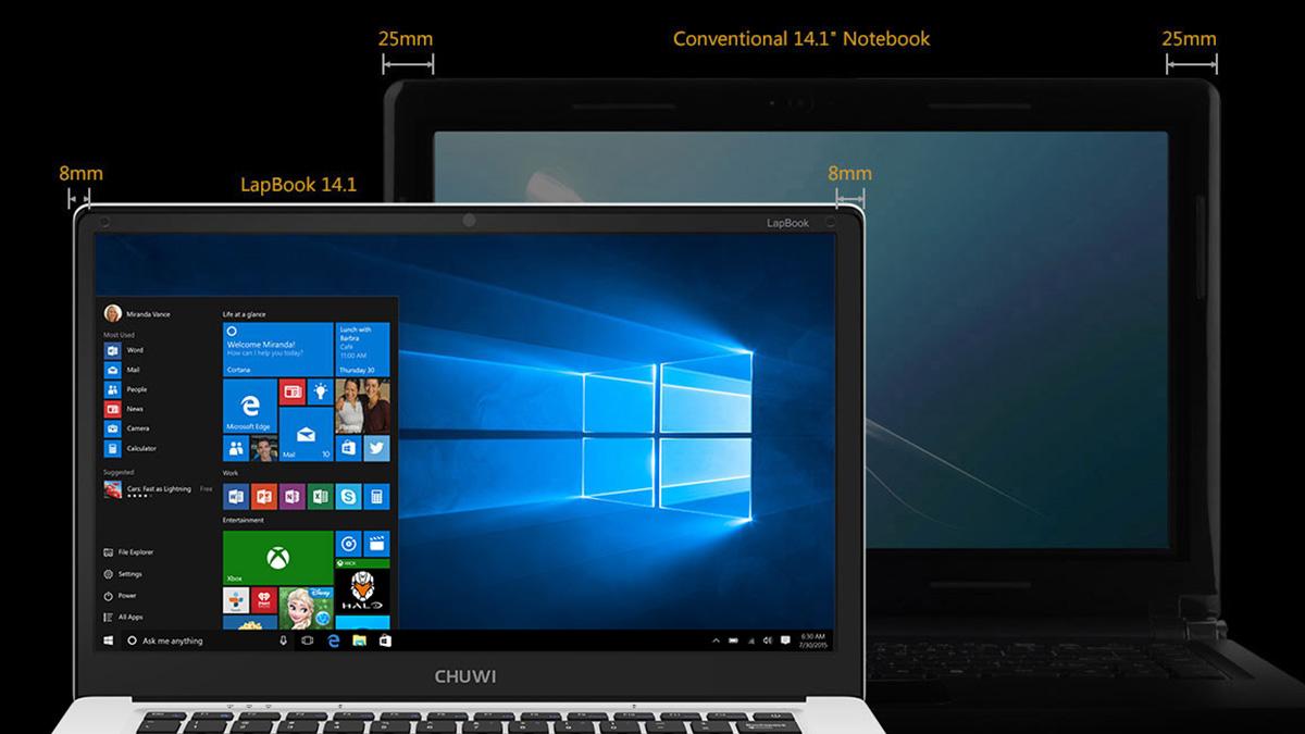 CHUWI LapBook 14.1インチモデル ベゼル幅