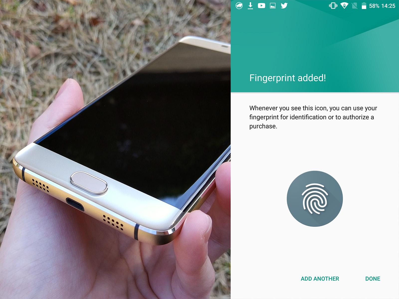 Elephone S7 指紋認証センサー