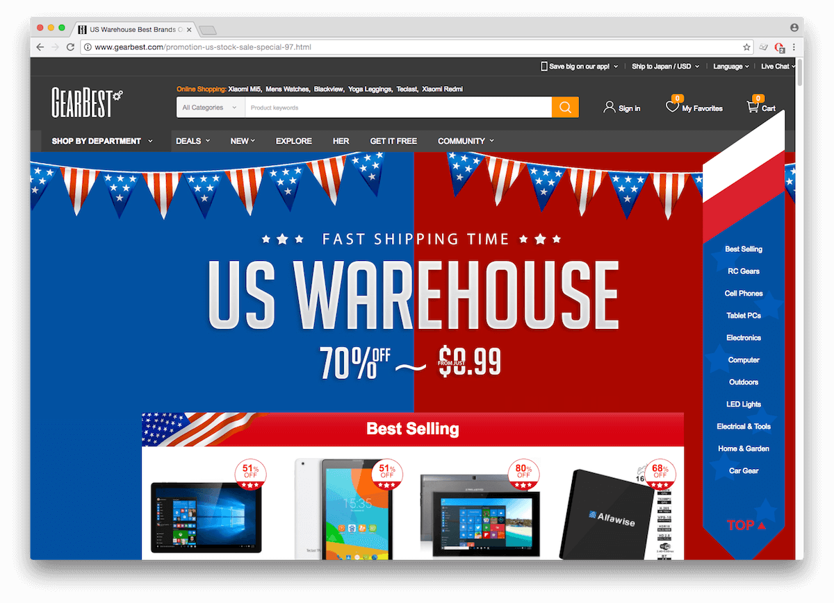 GearBest US Warehouse