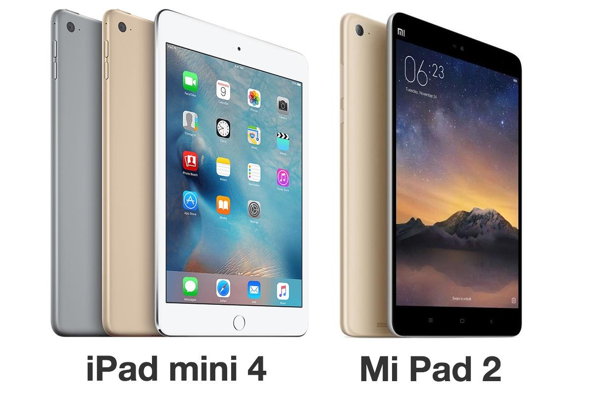 iPad mini 4とMi Pad 2