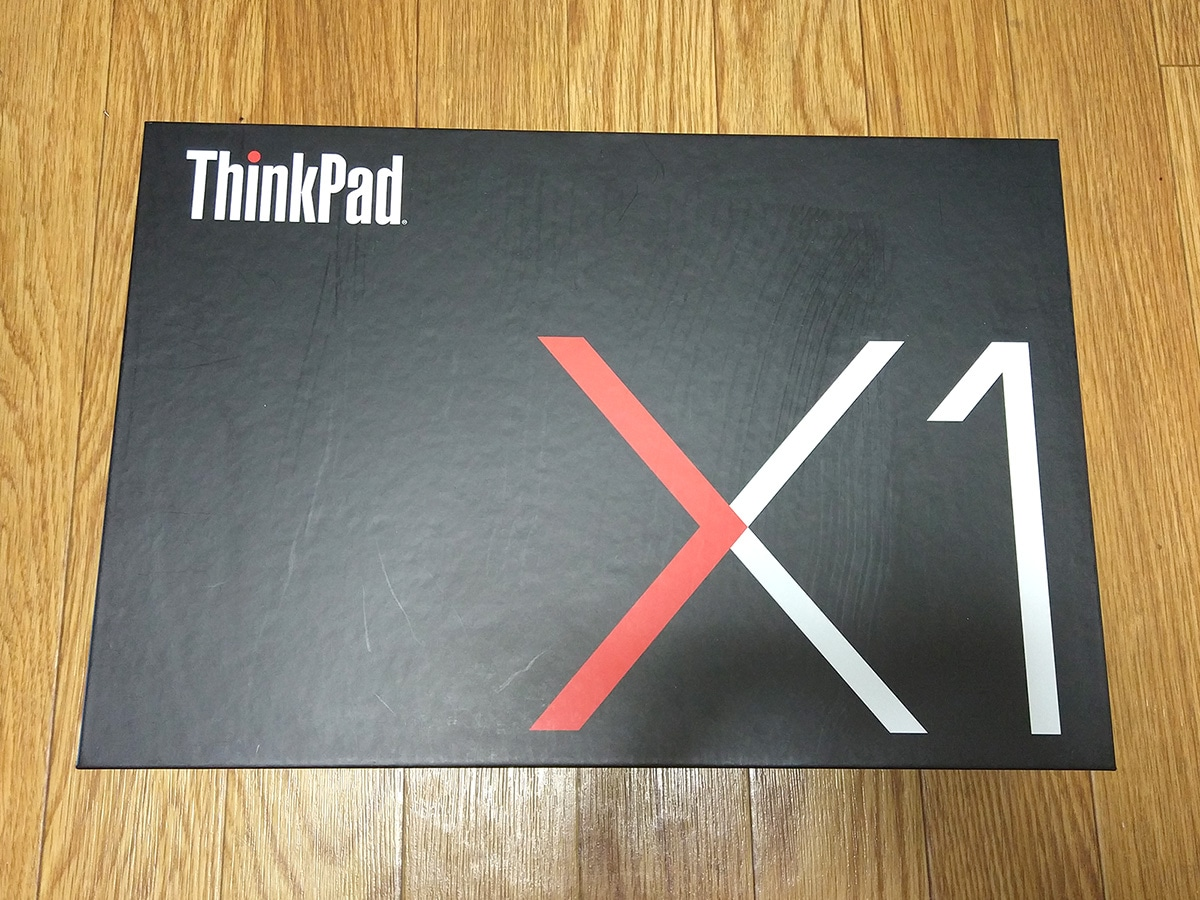 Lenovo ThinkPad X1 Carbon 開封