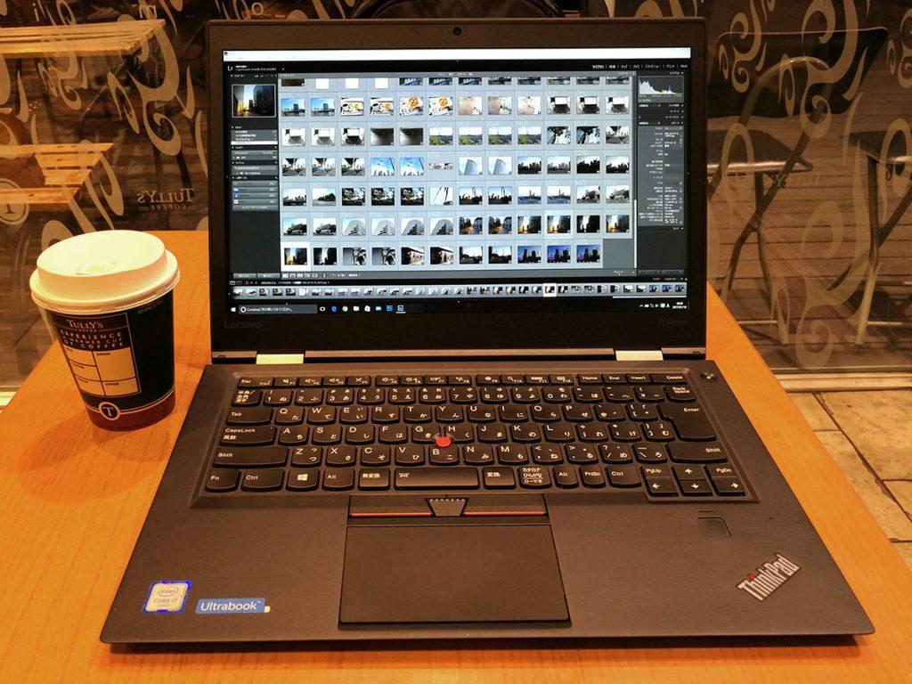 Lenovo ThinkPad X1 Carbon 屋外での作業