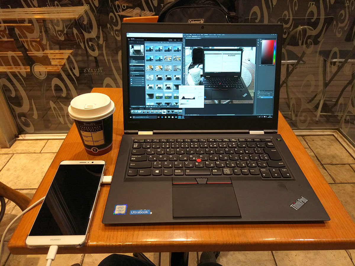Lenovo ThinkPad X1 Carbon @タリーズコーヒー 横浜みなとみらいビジネススクエア店