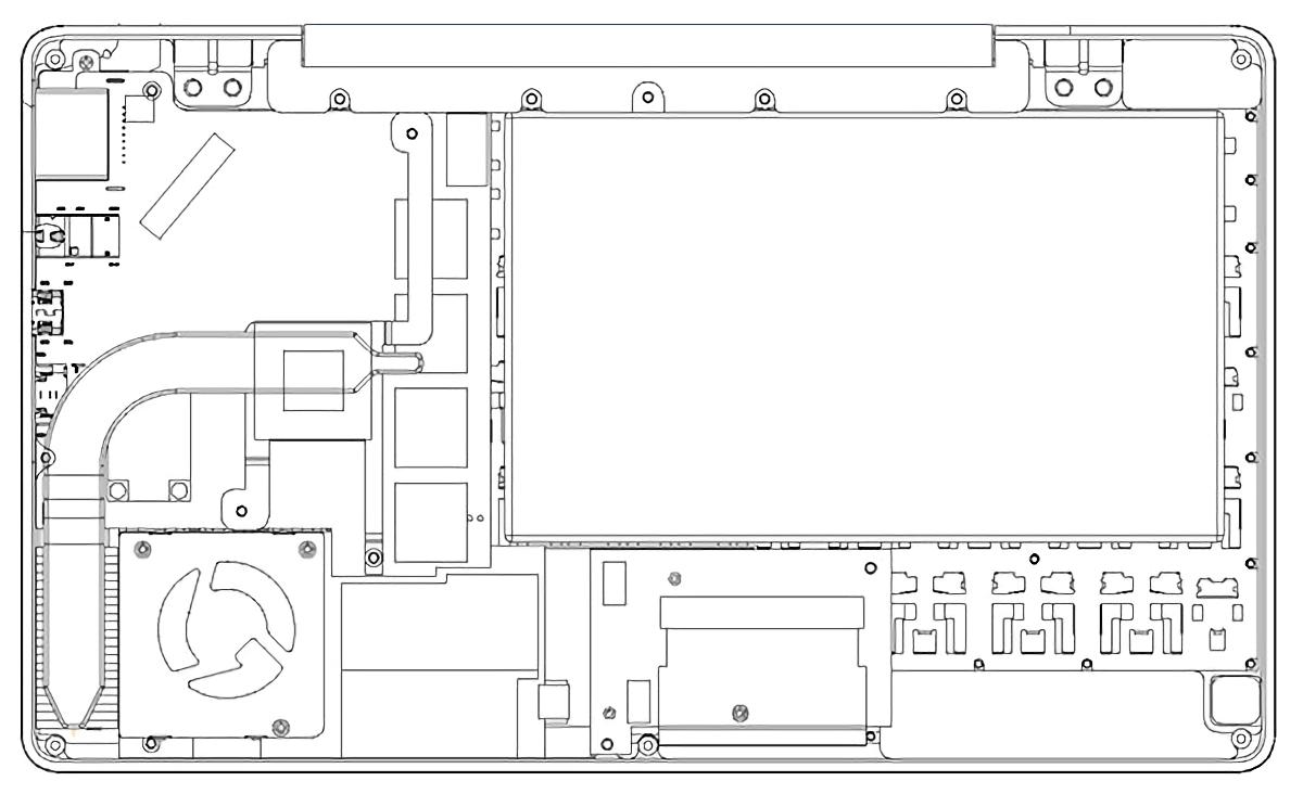 GPD Pocket 内部構造