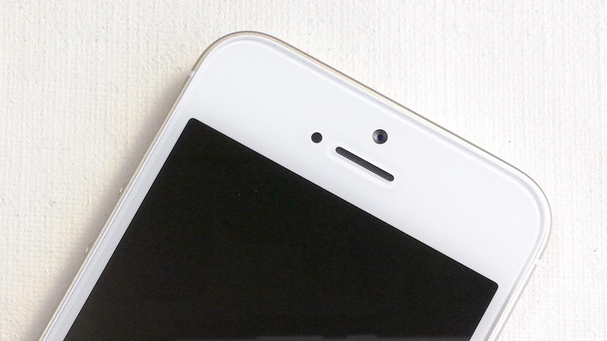 iPhone SE 前面カメラと受話口