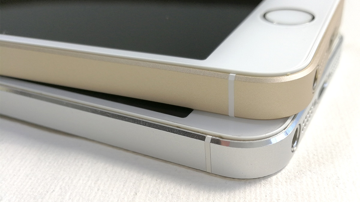 iPhone SEとiPhone 5の外観比較