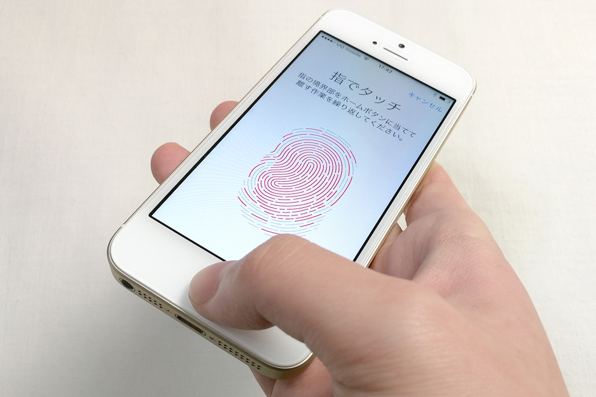 iPhone SE Touch ID 指紋認証