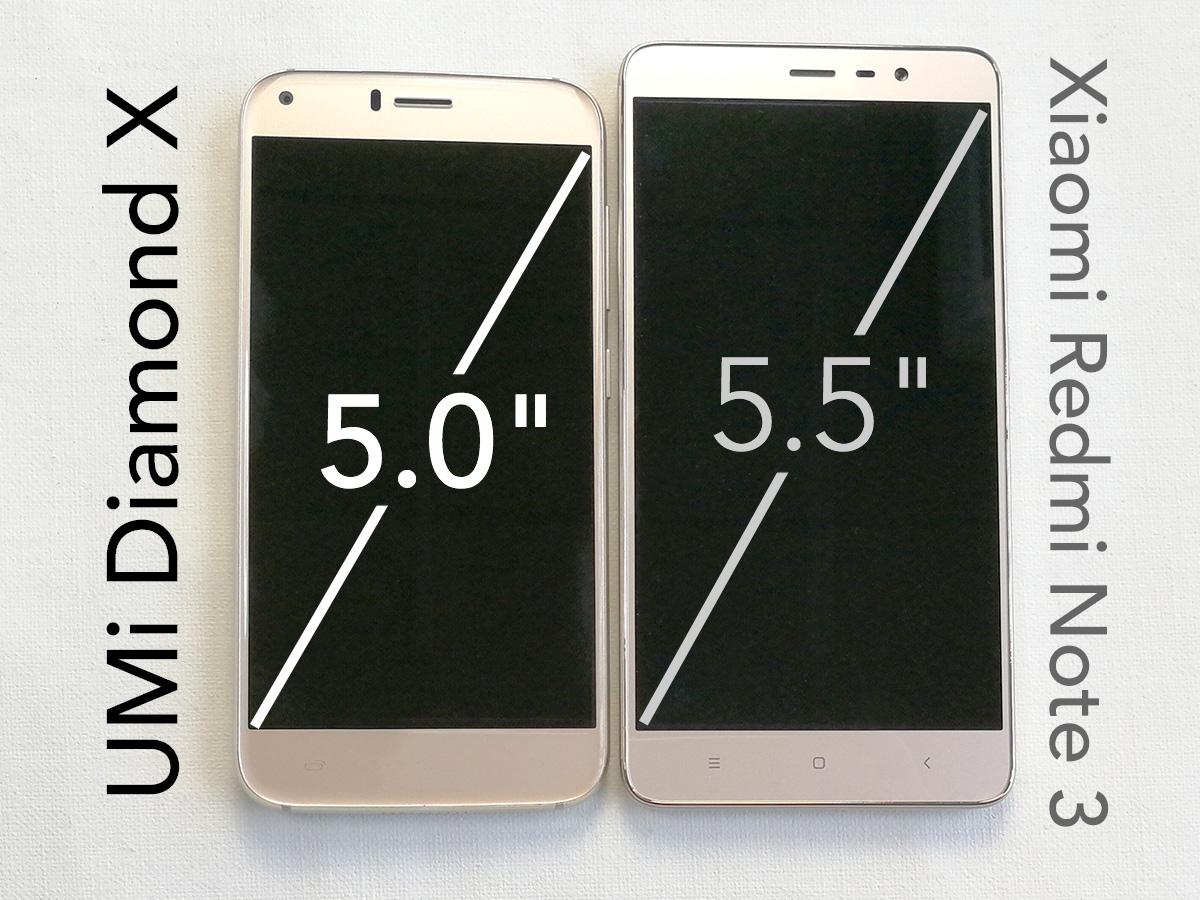 UMi Diamond X サイズ比較