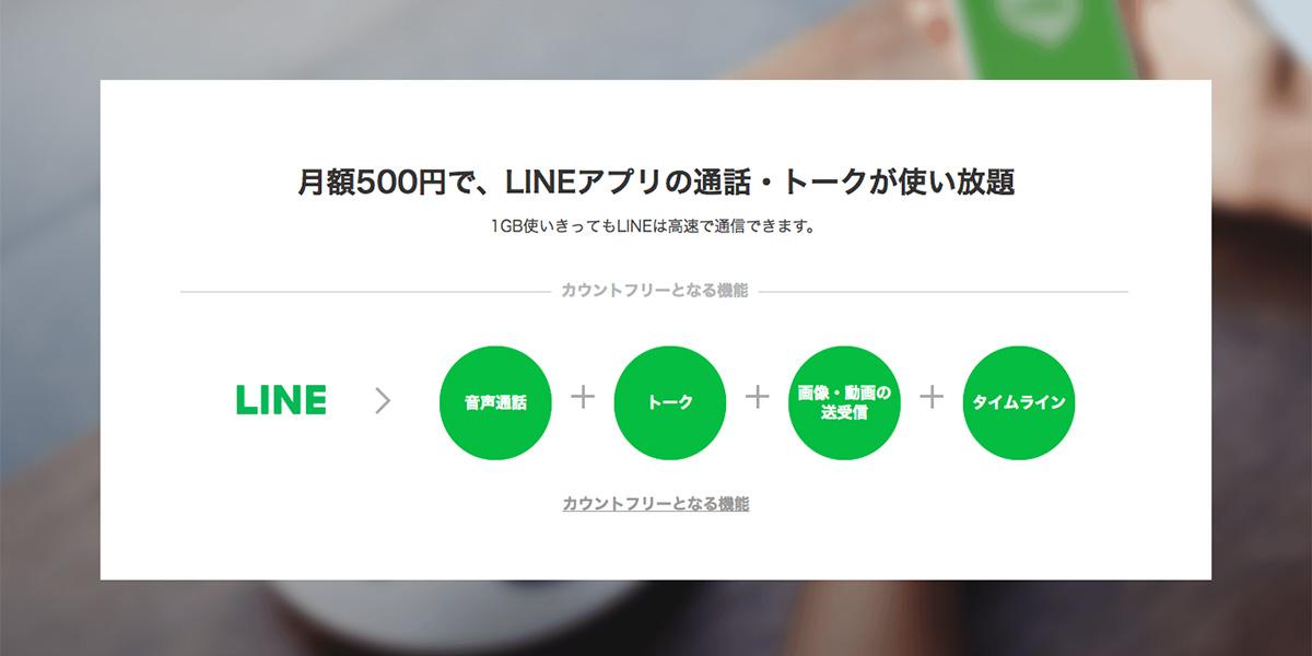 LINEモバイル LINEフリープラン