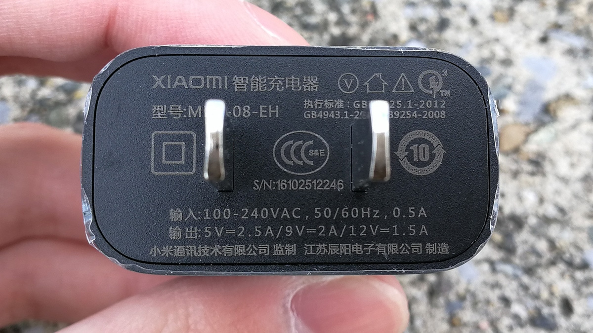 Xiaomi Mi Note 2 USB充電器