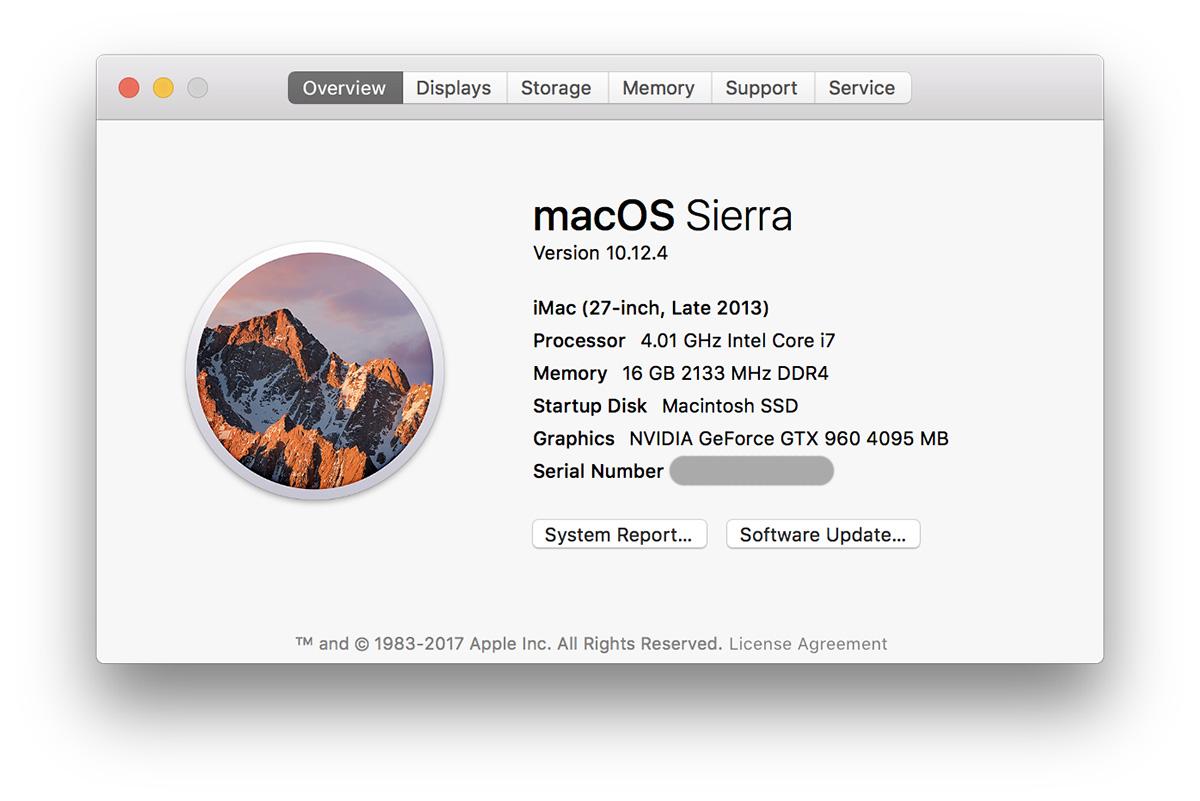 i7 6700KでHackintosh(Sierra)作ったので、構成と手順を紹介します