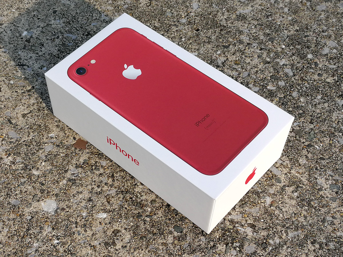 iPhone 7 (PRODUCT)RED パッケージ