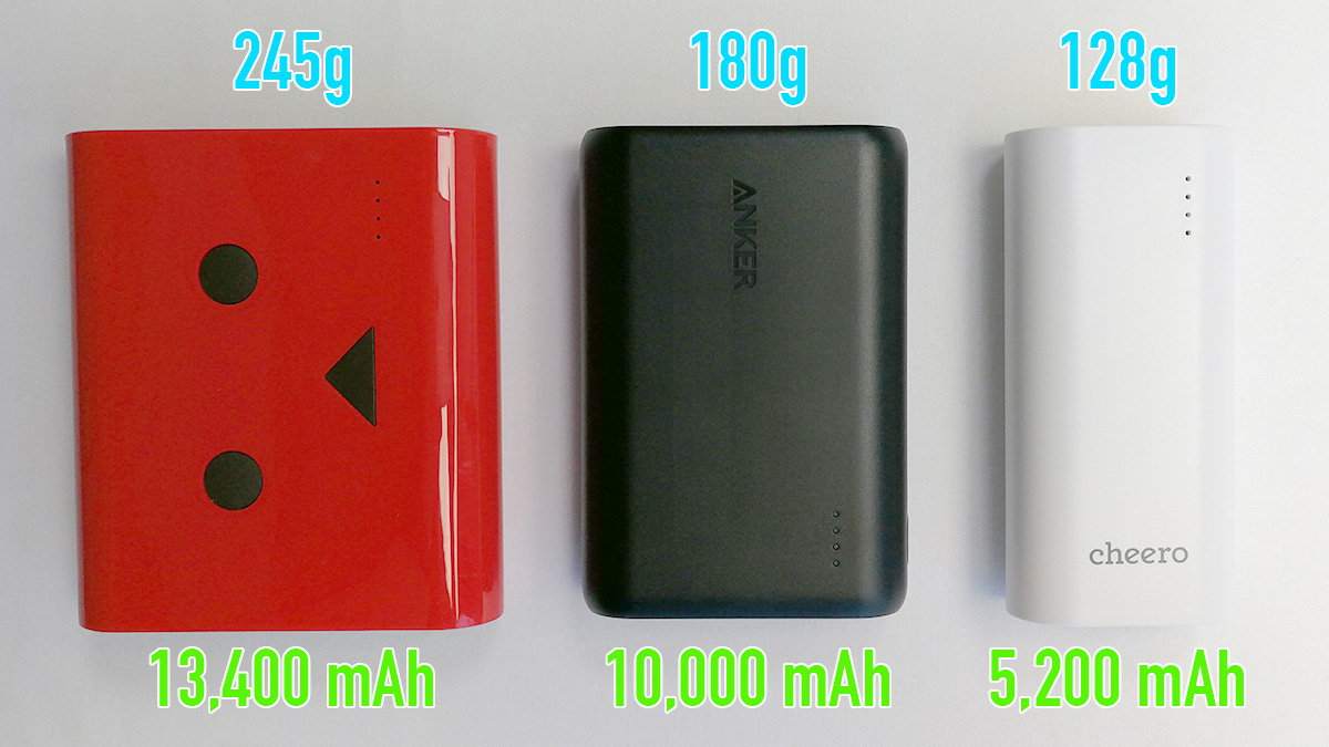 Anker PowerCore 10000 他製品と比較