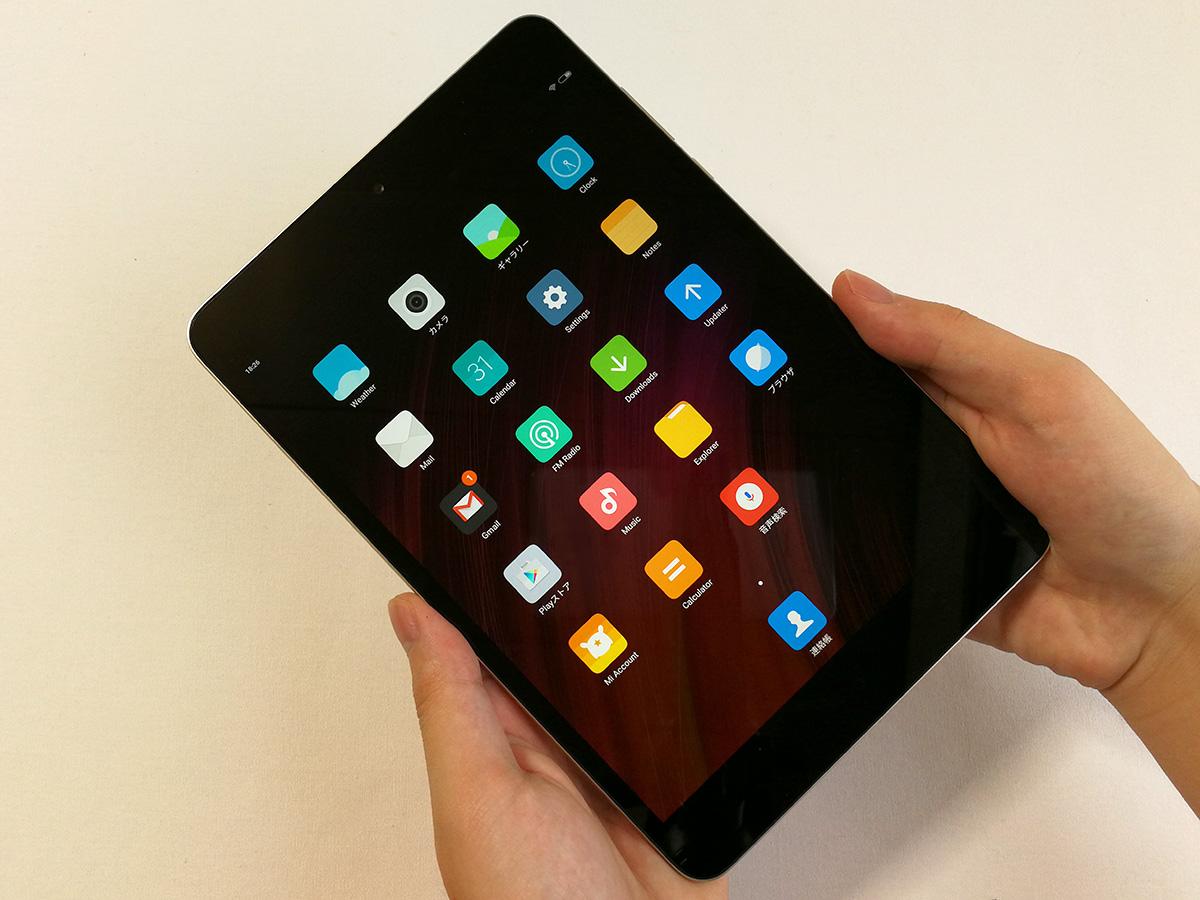 Xiaomi Mi Pad 3 ディスプレイ面