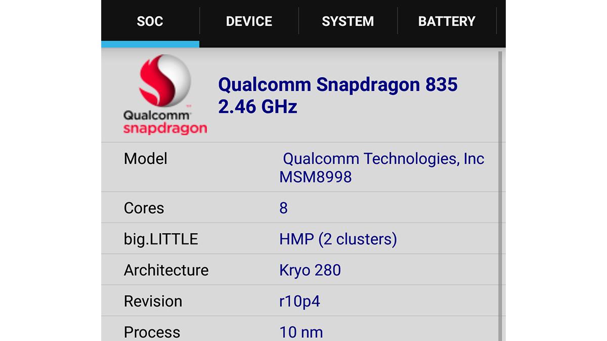 Xiaomi Mi6 CPU-Z