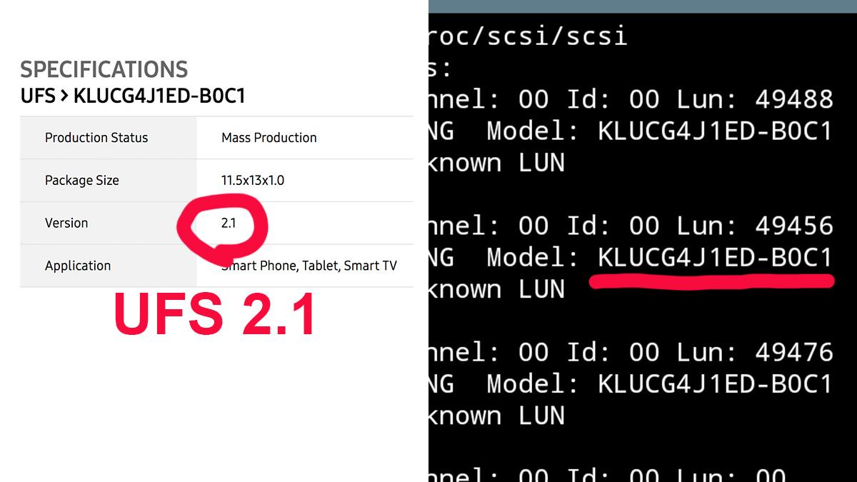 Xiaomi Mi6 UFS2.1